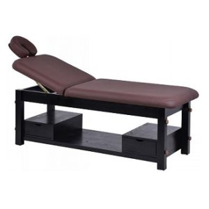 Wooden Stationary Wooden Spa Bed