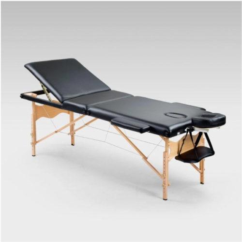 Portable massage bed black